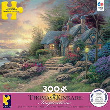 Load image into Gallery viewer, 300 Piece Oversized Thomas Kinkade Inspirations Puzzle- Seaside Hideaway