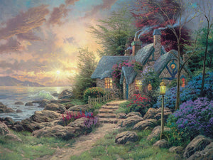 300 Piece Oversized Thomas Kinkade Inspirations Puzzle- Seaside Hideaway