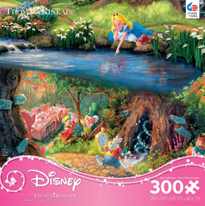 300 Piece Oversized Thomas Kinkade Disney Princess Puzzle- Alice in Wonderland
