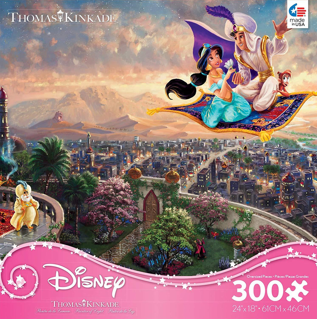 300 Piece Oversized Thomas Kinkade Disney Princess Puzzle-Alladin
