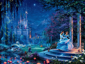 750 Piece Thomas Kinkade Disney Dreams-Cinderella Starlight
