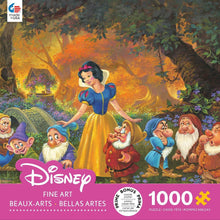 Load image into Gallery viewer, Ceaco Disney Fine Art Snow White Among Friends Puzzle - 1000 Piece