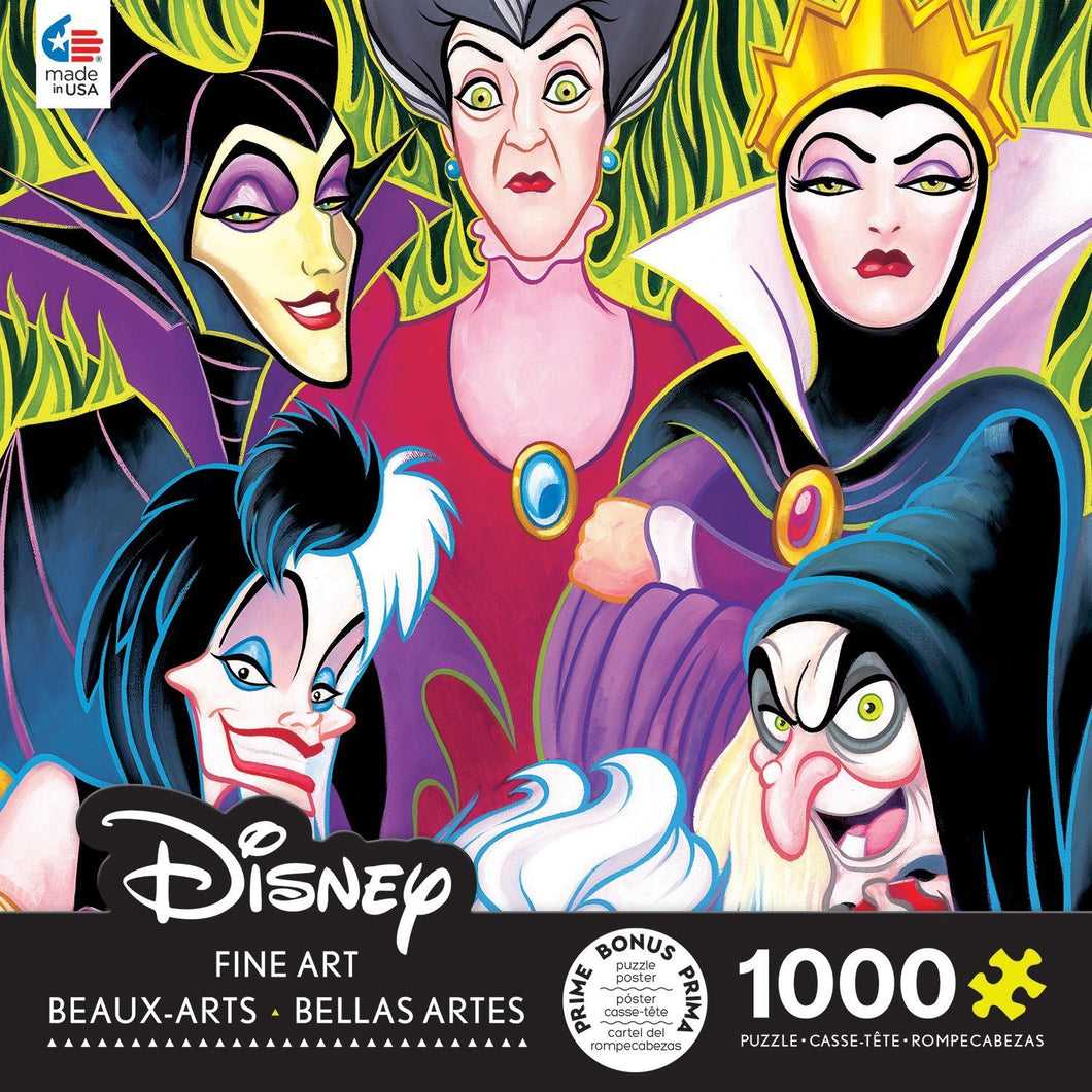 Disney Fine Art Lady Villans Puzzle - 1000 Pieces