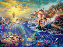 Load image into Gallery viewer, 1500 piece Thomas Kinkade Disney Little Mermaid Puzzle