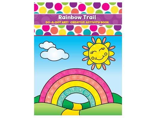 NEW Do A Dot Design Rainbow Trail Creativity and Activity Book