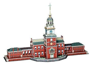Independance Hall 3D Puzzle 43 Pieces