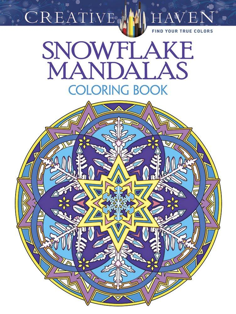 Creative Haven Snowflake Mandalas Coloring Book-Noble