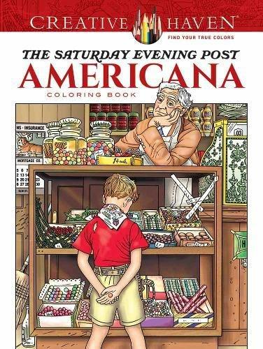 Creative Haven Saturday Evening Post Coloring Book