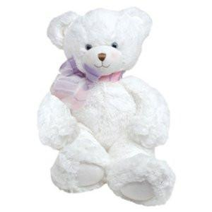 First & Main Plush Stuffed Sitting Bear, White,15