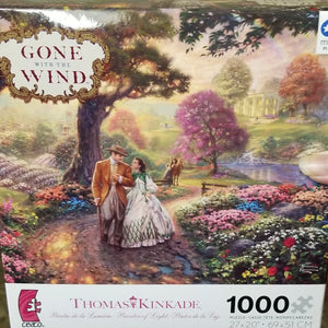 1000pc Thomas Kincade Puzzle- Gone with the Wind