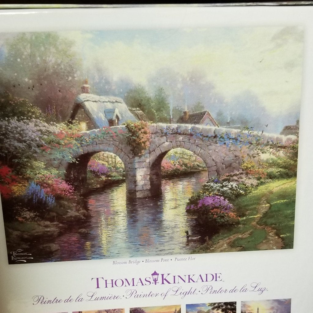 1000 pc Thomas Kincade Painter of Light-Blossom Bridge