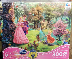 300 Piece Oversized Thomas Kinkade Disney Princess Puzzle-Sleeping Beauty