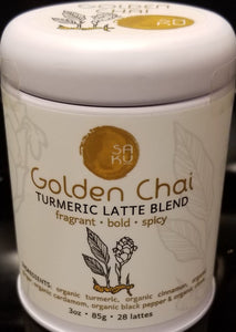 Saku Tea Golden Chai Tea-3oz Tin