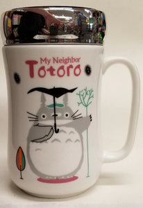 Totoro Ceramic Mug with Screw on Lid