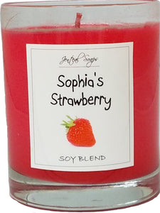 Jenteal Soaps Soy Blend Candle-Sophia's Strawberry