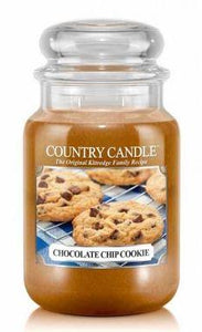 23oz Country Classics Large Jar Kringle Candle: Chocolate Chip Cookie