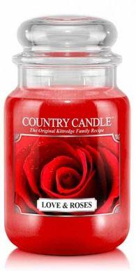 23oz Country Classics Large Jar Kringle Candle: Love & Roses