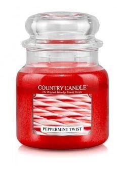 16oz Country Classics Medium Jar Kringle Candle: Peppermint Twist