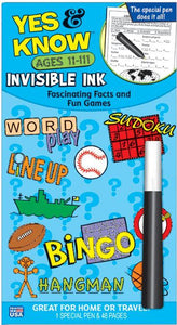 Yes & Know  Invisible Ink Trivia & Game Book-Ages 11-111