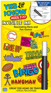 Yes & Know  Invisible Ink Trivia & Game Book-Ages 7-77