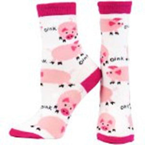 Pigs Oink All-Over Socks  X Large womans 9-11