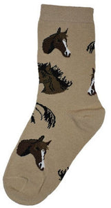 Horse Heads Adult Socks- Medium