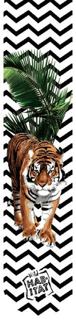 Wild Habitat Sublimation Socks- Fashion Tiger