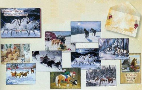 Leanin Tree Holiday Horses Christmas Cards Assortment #90205 - Freedom Day Sales