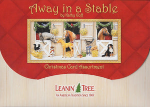 Leanin Tree Away in a Stable Christmas Cards #90246