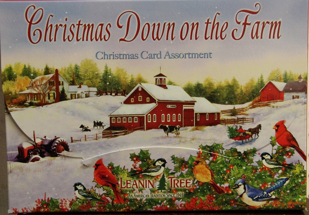 Leanin Tree Christmas Down on the Farm Christmas Cards #90277