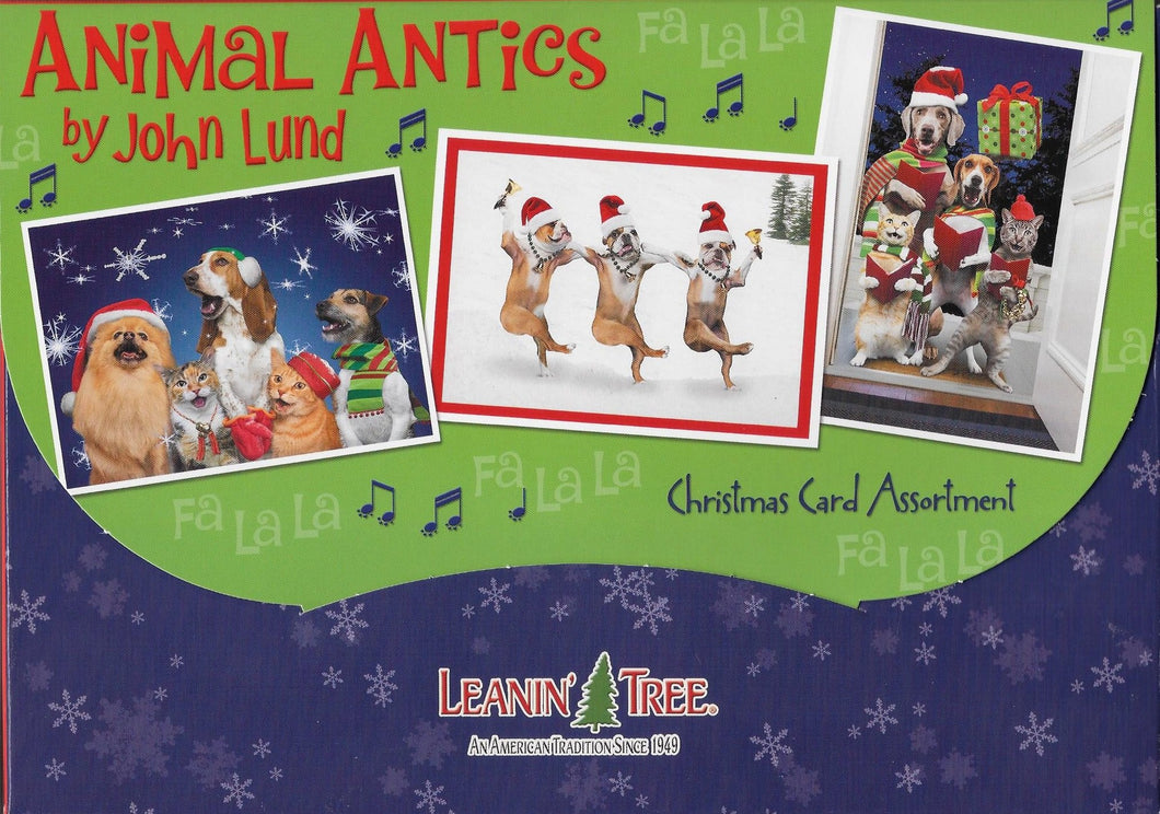 Leanin Tree Animal Antics Christmas Cards Assortment #90292