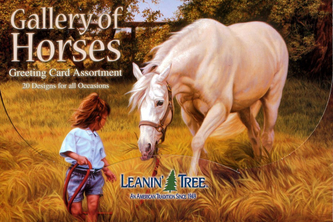 Leanin Tree Gallery of Horses Greeting Cards Assortment #90611