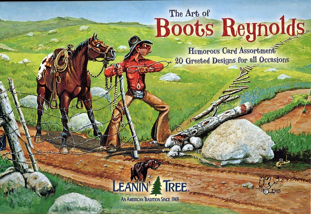 Leanin Tree Art of Boots Reynolds Greeting Cards Assortment #90672