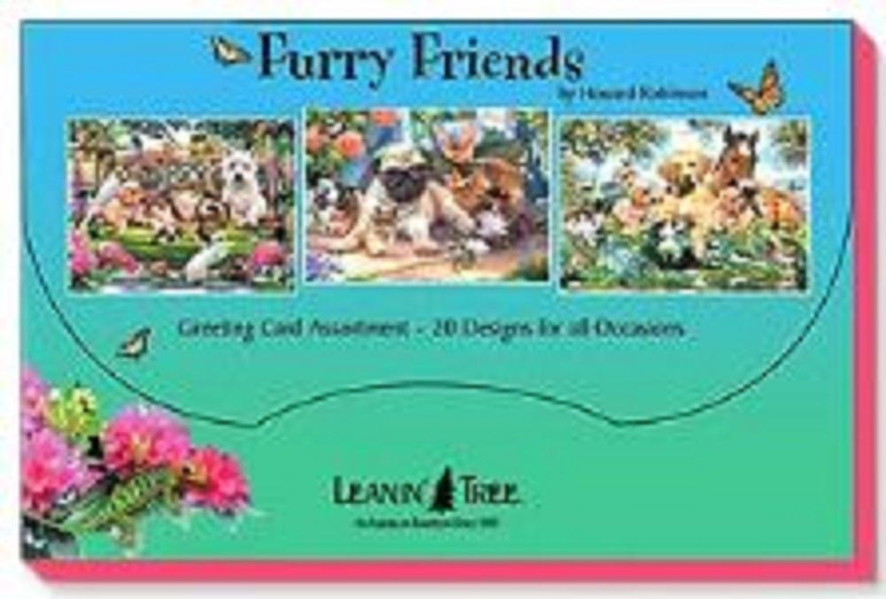 Leanin Tree Furry Friends by Howard Robinson Greeting Cards Assortment #90759