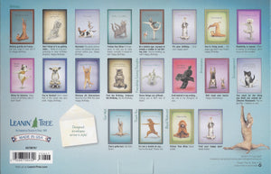 Leanin Tree Yoga Cats and Dogs Greeting Cards Assortment #90767
