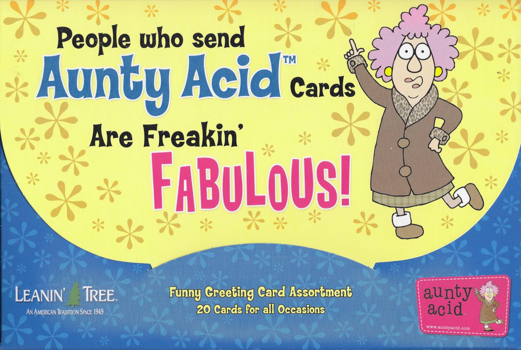 Leanin Tree Auntie Acid Greeting Cards Assortment #90771