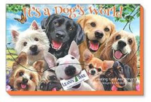 Leanin Tree It's A Dog's World Greeting Cards Assortment #90792