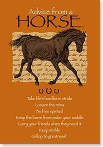 Advice from a Horse Blank Notecards wih Envelopes - Freedom Day Sales