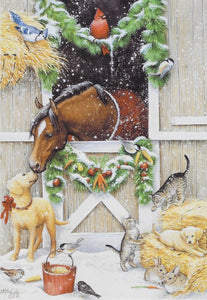 Holiday Stable Greetings Boxed Christmas Cards #74597