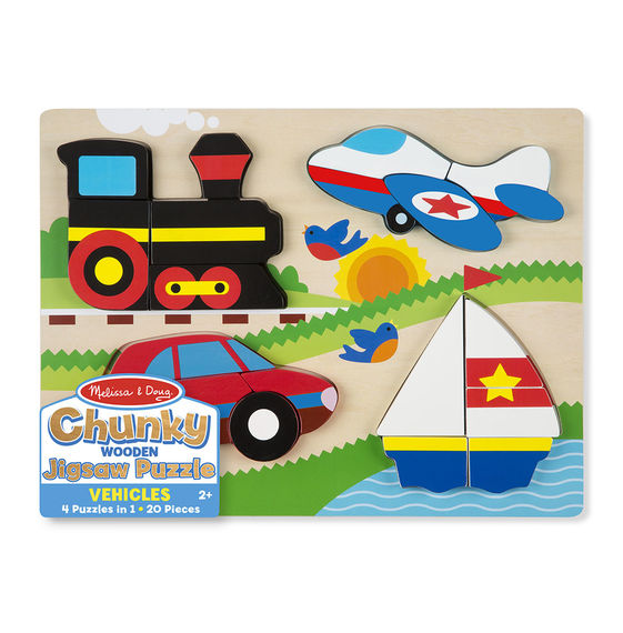 Melissa & Doug Chunky Jigsaw Puzzle - Vehicles 1893
