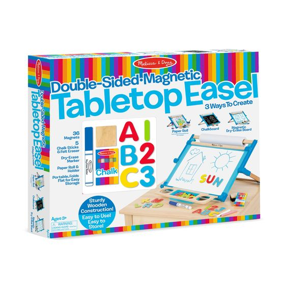 Melissa & Doug Double-Sided Magnetic Tabletop Easel 2790