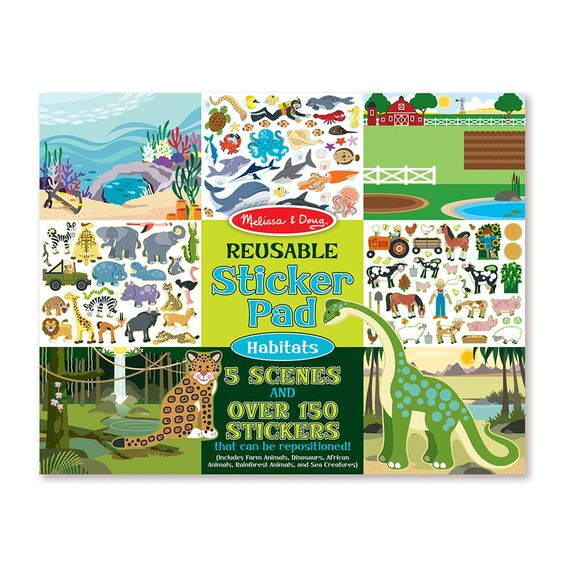 Melissa & Doug Reusable Sticker Pad - Habitats 4196