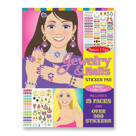 Melissa & Doug Jewelry & Nails Glitter Collection Sticker Pad-4223