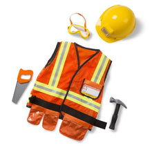 Load image into Gallery viewer, Melissa & Doug Construction Worker Role Play Costume Set-4837
