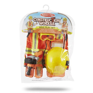 Melissa & Doug Construction Worker Role Play Costume Set-4837