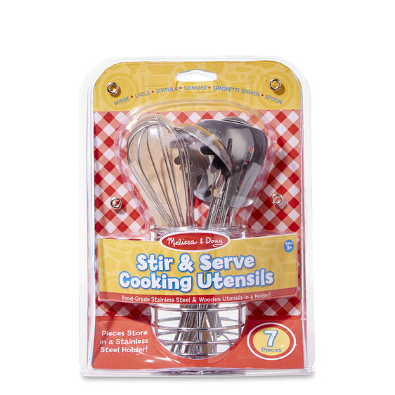 Melissa & Doug Let's Play House! Stir & Serve Cooking Utensils