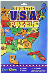 Create-A-Scene Magnetic Playset - USA Puzzles Front