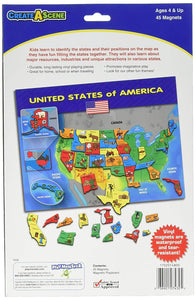 Create-A-Scene Magnetic Playset - USA Puzzles back