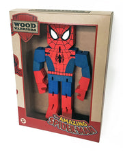 Load image into Gallery viewer, Marvel Spiderman Wooden Warriors Doll 8""