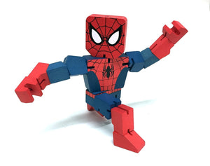 Marvel Spiderman Wooden Warriors Doll 8""